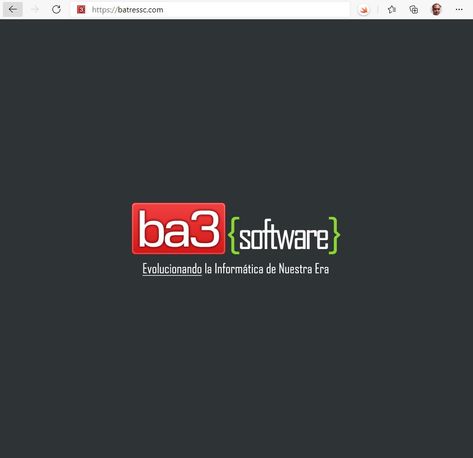 Primer sitio web batressc.com